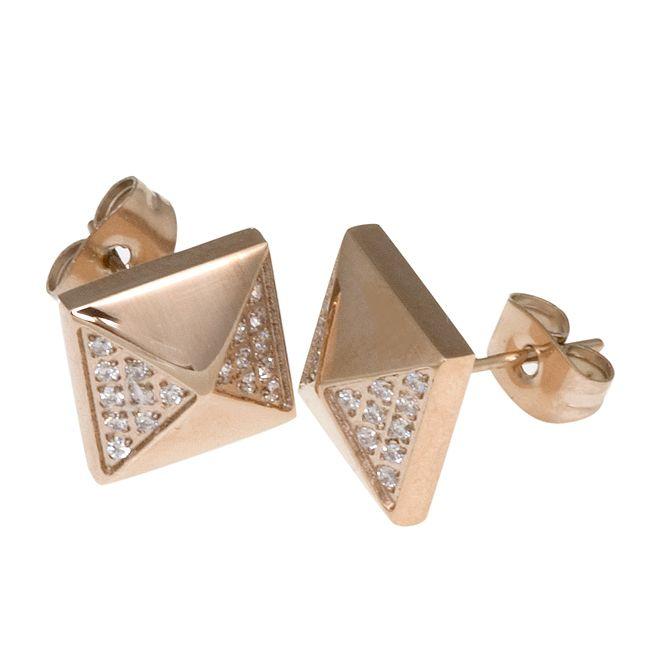 Ingnell Jewellery - Petra stud rose. Stainless steel. www.ingnelljewellery.com