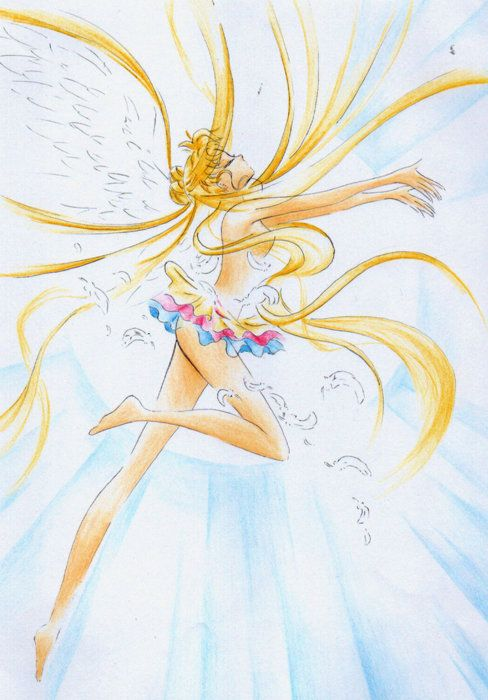 Eternal Sailor Moon ... And in the midst of a transformation :O ... She's 14 years old, guys!