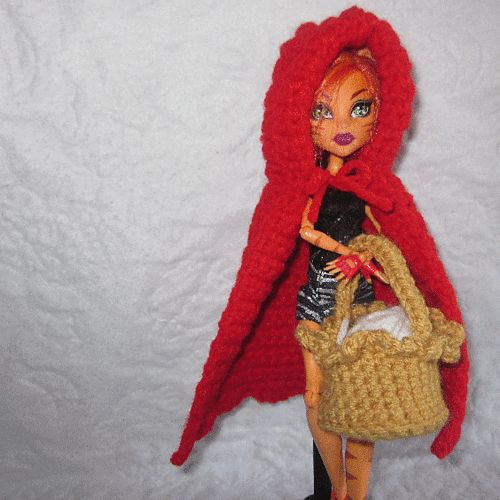 Ravelry: Monster High Red Riding Hood free crochet pattern ...