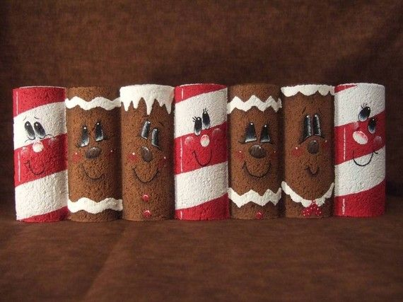 Oil Creek Originals  9002  Gingerbread and Candy Canes Painting Pattern via Etsy