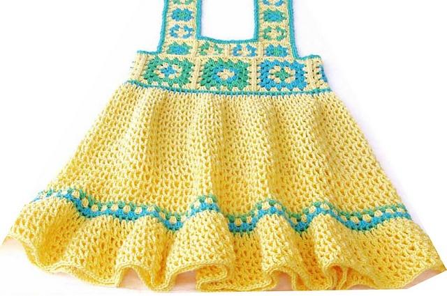 Ravelry: Yellow toddler Granny Dress.  Crochet Pattern by  Ingunn Santini