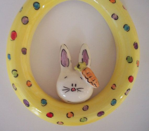Hand madehand painted eggshaped hanging by eudoxiahandmade on Etsy, €8.15