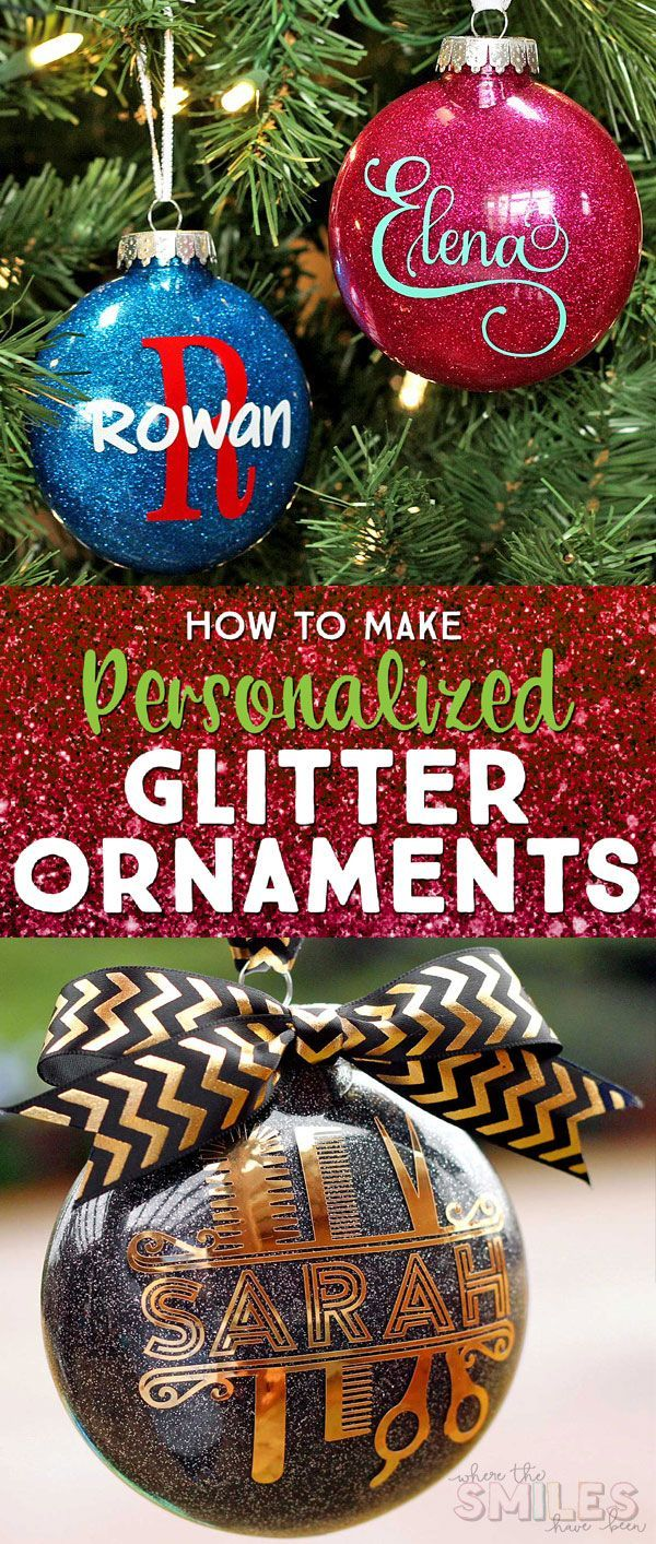 Diy Personalized Glitter Ornaments Diy Christmas Ornaments Easy Homemade Christmas Ornaments Diy Glass Ornaments Diy
