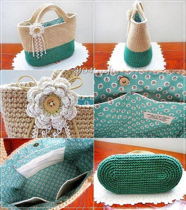 Вязание крючком сумка Модели Фотографии