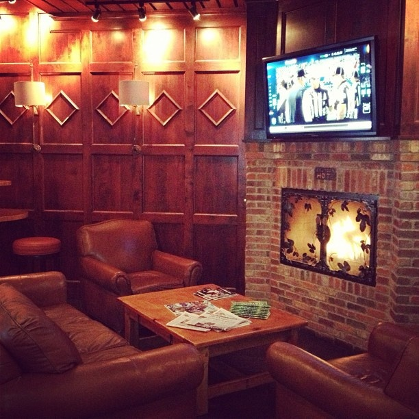 The Sports Lounge At Our Bend Pub Fireplace Craftbeer