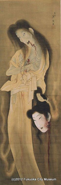 Japanese ghost by Keisai Eisen --「幽霊図」渓斎英泉1790-1848 江戸後期