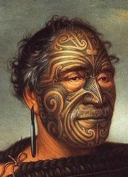 Maori men tattoo - Google Image Result for http://catherinesherman.files.wordpress.com/2008/09/maori-tamatiwakanene_lindauer-1.jpg