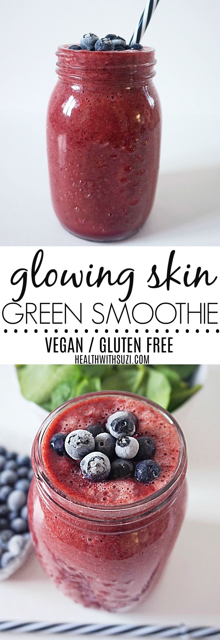 I love this smoothie so much! It tastes amazing and it's so good for your hair, skin and nails! I'm pinning it so I can refer back to the recipe anytime!