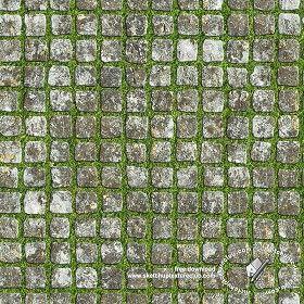 Textures Texture seamless | Park cobblestone paving texture 18666 | Textures - ARCHITECTURE - PAVING OUTDOOR - Parks Paving | Sketchuptexture