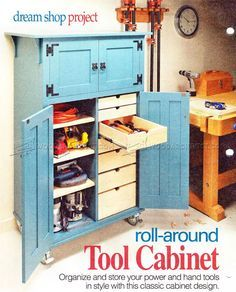 #696 Roll-Around Tool Cabinet Plans - Workshop Solutions Plans, Tips and Tricks