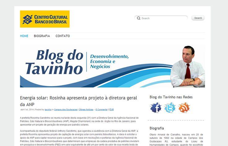 Cliente: Otávio Amaral Produto: Blog  Blog pessoal do Otávio Amaral de Carvalho  http://www.blogdotavinho.com.br
