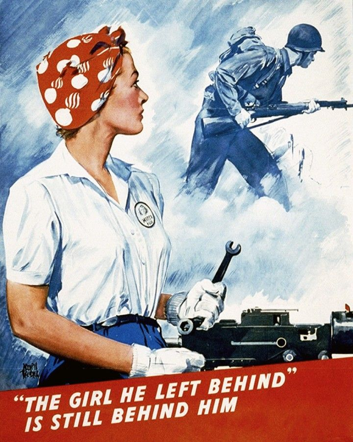 USA Vintage Retro Inspire Rosie the Riveter Classic WWII Poster We Can Do It