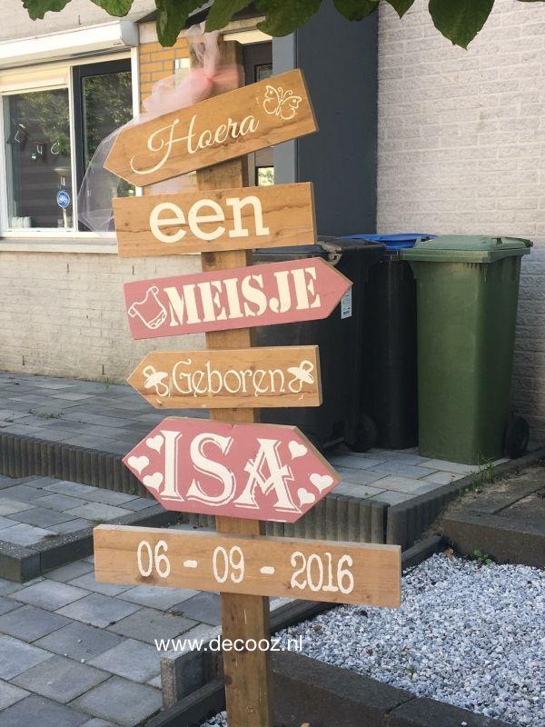 Houten wegwijspaal, Ibiza paal, Ibiza tekstbord, gipsy stijl, bord met pijlen