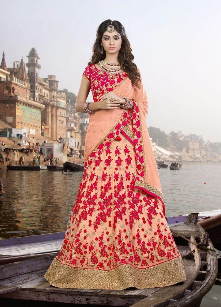 Bollywood Traditional Indian Wedding Ethnic Lehenga Wear Choli Bridal Pakistani