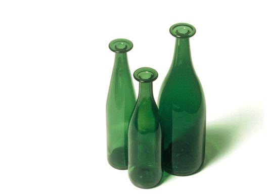 .. Three Green Bottles by Jasper Morrison for Cappellini.