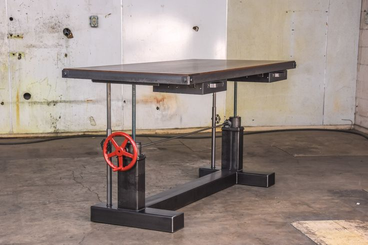 Sit Stand Desk Designs : Crank sit stand desk by vintage industrial furniture