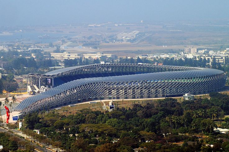 The First Solar Powered Stadium Was Built in Kaohsiung, Taiwan. Details in Sun Is The Future at: http://www.sunisthefuture.net/2015/04/28/first-solar-powered-stadium-in-the-world-was-built-in-kaohsiung-taiwan/