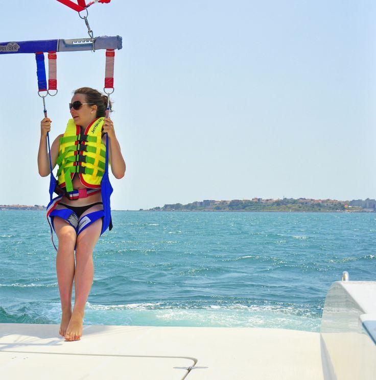 Parasailing at the Black Sea