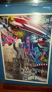 Disney Anniversary Poster   NEW-RARE-DISNEYLAND-DIAMOND-CELEBRATION-60TH-ANNIVERSARY-DISNEY-MATTED ...