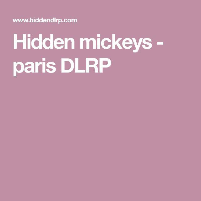 Hidden mickeys - paris DLRP