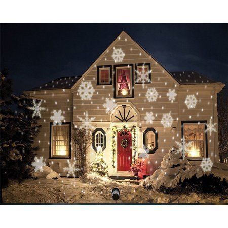LED Christmas Light Moving White Snowflake Spotlight 4W LED