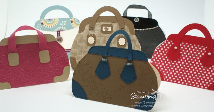 Stampin' Up! Stamping T! Stylish Handbag Cards