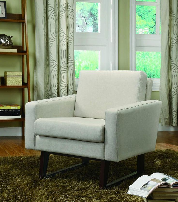Coaster Beige Accent Chair With Exposed Wood 900176