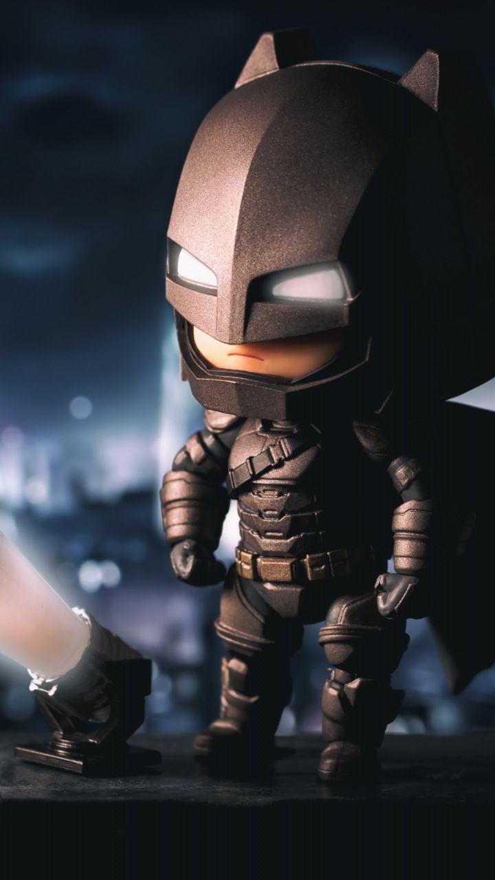 Batman The Bat Signal Lego Figure Toy 720x1280 Wallpaper