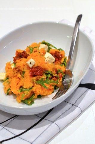 On a Budget: Zoete aardappelstamppot - Voedselzandloper proof #Primal #sweetpotato #feta