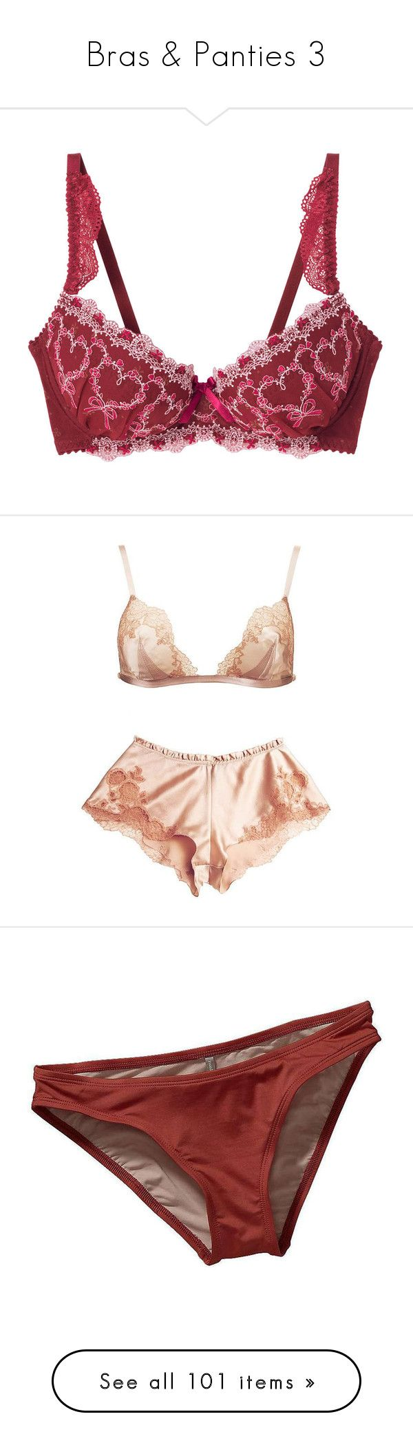 """Bras & Panties 3"" by libbylu116-1 ❤ liked on Polyvore featuring intimates, lingerie, underwear, bras, undies, goth lingerie, gothic lingerie, punk lingerie, red lingerie and retro lingerie"