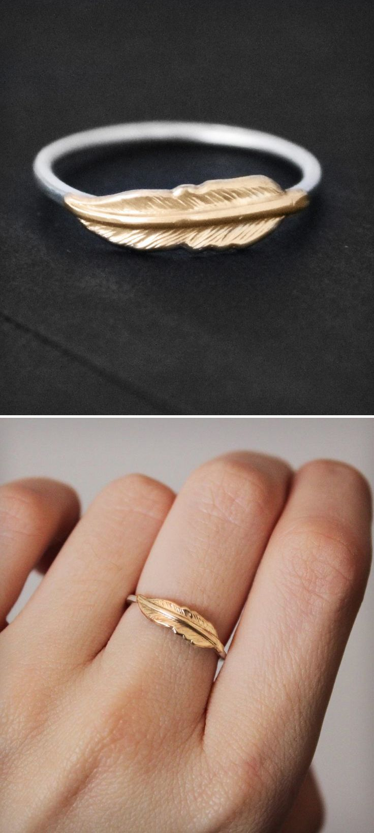 Feather Ring --custom with a pearl or sapphire and ruby pave band? (New wedding band)