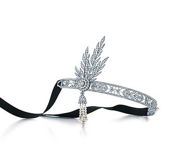 Tiffany designers crafted a magnificent headpiece in platinum for The Great Gatsby, bringing Daisy Buchanan to life. Features a detachable brooch. Inspired by Baz Luhrmann's film in collaboration with Catherine Martin. - 200,000