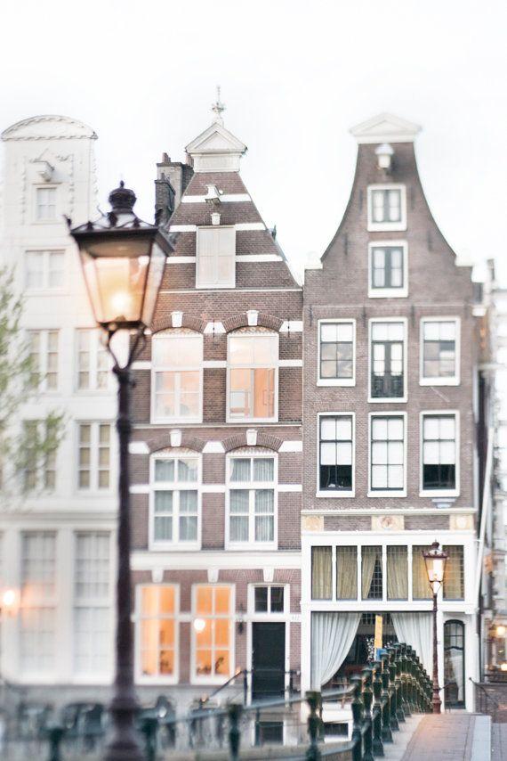 Lamp Light in Amsterdam Fine Art Photographic Print by Georgianna Lane $30.00