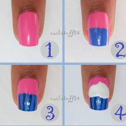 Ice Cream Cup Nail Art Tutorial