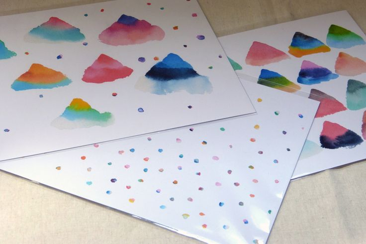maker:  Dear Plastic product:DIY Paper mobile kit  material:watercolour and paper handmade in Melbourne