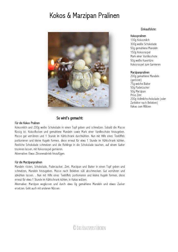 Kokos Pralinen & Marzipan Pralinen - Coconut and/or Marzipan Truffles