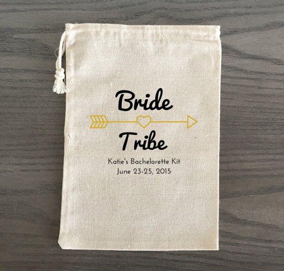10 Bachelorette Hangover Kit, Survival Kit, Recovery Kit, Emergency Kit Favor Bags, Bachelorette Party Favor - Bride Tribe, Custom