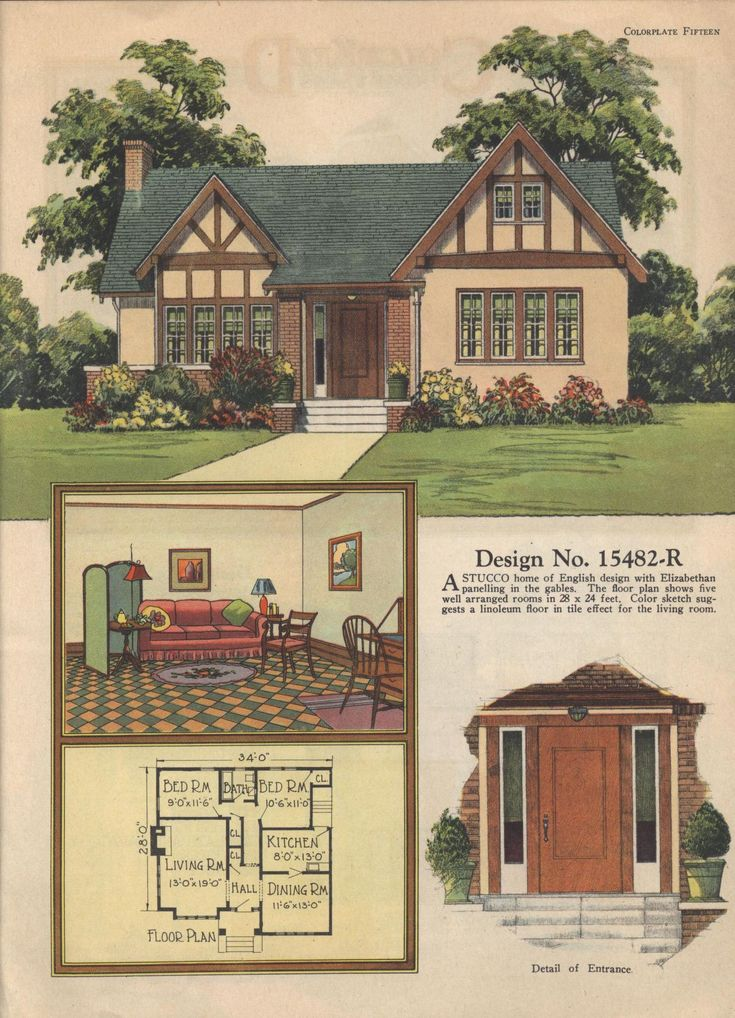 Colorkeed home plans radford 1920s vintage house plans - Retro home design ...