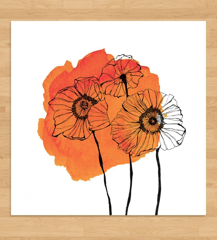 Poppies Watercolor Spot Art Print by Morgan Kendall Art on Scoutmob Shoppe