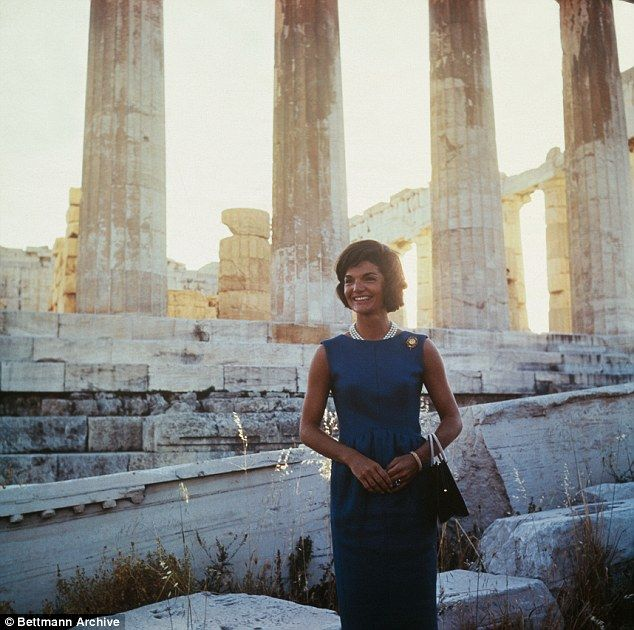Jackie Kennedy, pictured in Athens, Greece, made a personal trip to Greece in 1961 after traveling through Paris, Vienna and London with her husband