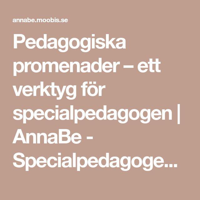 Pedagogiska promenader – ett verktyg för specialpedagogen | AnnaBe - Specialpedagogen spekulerar