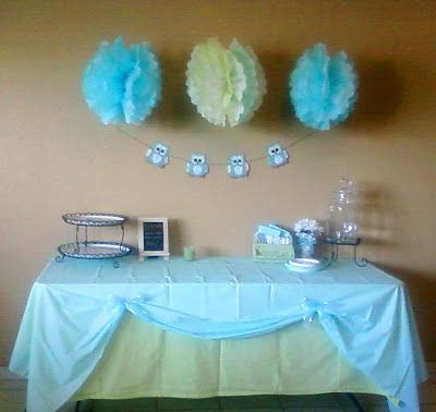 Delight Inspired: Boy Baby Shower Table Decor