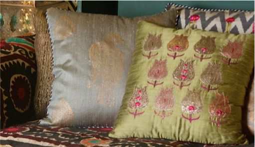 THE GOLDEN ROAD And softly through the silence beat the bells along the #GoldenRoad to Samarqand... Discover our cushions from the #Samarqand design collection on our #WebBoutique . #Cushions #PillowTalk #StyleIdeas #HomeDecor