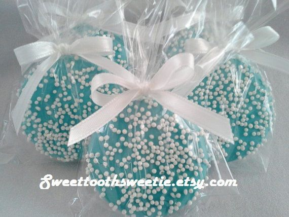 Blue Chocolate Covered Oreos Cookies Wedding Favors Baby Shower Favors Baptism Favors Christening Favors It's a Boy Cookies Sweet 16 Party