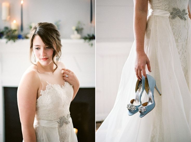 Soft Bridal Makeup & Pale Blue Bridal Shoes // Photography ~ Live View…