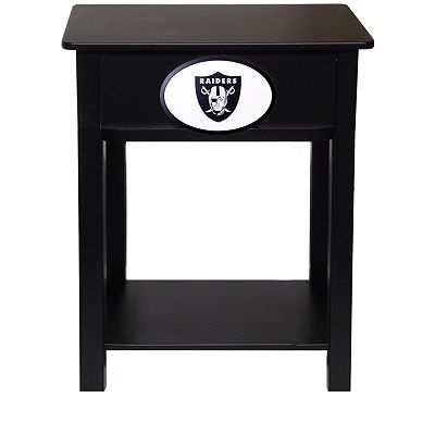 Oakland Raiders Birch Side Table
