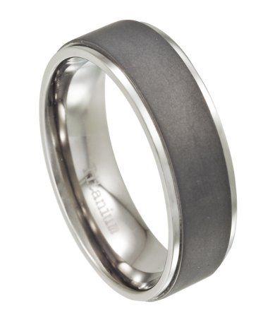 Titanium Men's Wedding Ring with Matte Finish