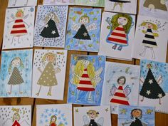 Tvoříme s dětmi ☺: Přáníčka s andělíčky