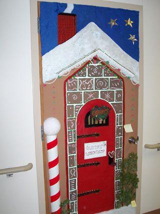 Santas workshop door decorating ideas   ... the SMHC door contestwas Housekeeping with 'Santa's Workshop