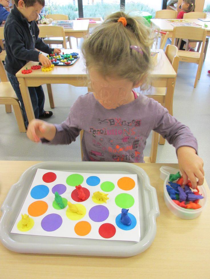 Placer les figurines sur les disques de même couleur (Nathaliell)